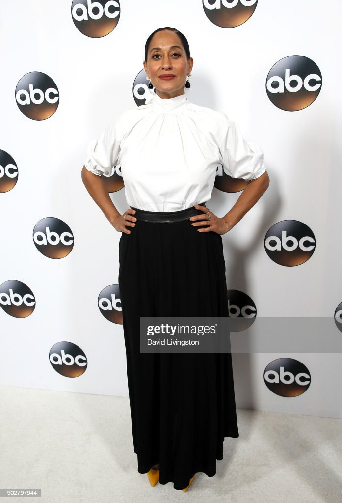 Actress Tracee Ellis Ross attends Disney ABC Television Group's TCA Winter Press Tour 2018 at The Langham Huntington, Pasadena on January 8, 2018 in Pasadena, California.