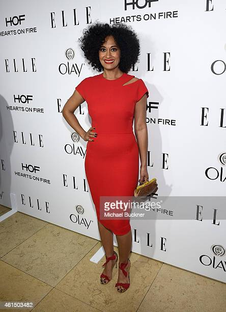 Actress Tracee Ellis Ross attends ELLE's Annual Women in Television Celebration on January 13 2015 at Sunset Tower in West Hollywood California...