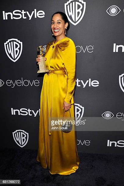 Actress Tracee Ellis Ross attends The 2017 InStyle and Warner Bros 73rd Annual Golden Globe Awards PostParty at The Beverly Hilton Hotel on January 8...