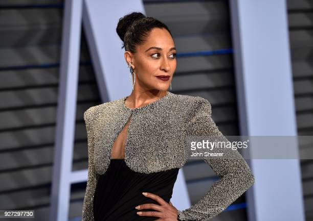 Actress Tracee Ellis Ross attends the 2018 Vanity Fair Oscar Party hosted by Radhika Jones at Wallis Annenberg Center for the Performing Arts on...