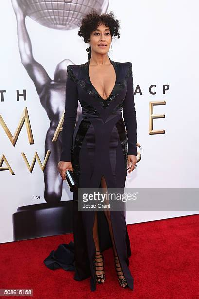 Actress Tracee Ellis Ross attends the 47th NAACP Image Awards presented by TV One at Pasadena Civic Auditorium on February 5 2016 in Pasadena...