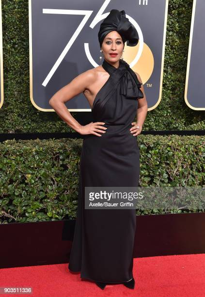 Actress Tracee Ellis Ross attends the 75th Annual Golden Globe Awards at The Beverly Hilton Hotel on January 7 2018 in Beverly Hills California