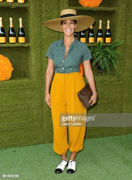 Actress Tracee Ellis Ross attends the 8th annual Veuve Clicquot Polo Classic at Will Rogers State Historic Park on October 14 2017 in Pacific...