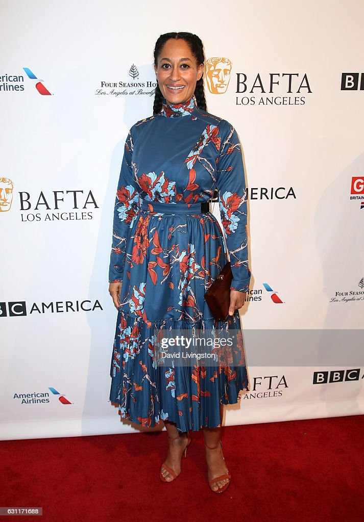 Actress Tracee Ellis Ross attends The BAFTA Tea Party at Four Seasons Hotel Los Angeles at Beverly Hills on January 7, 2017 in Los Angeles, California.