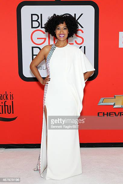 Actress Tracee Ellis Ross attends the BET's Black Girls Rock Red Carpet sponsored by Chevrolet at NJPAC – Prudential Hall on March 28 2015 in Newark...