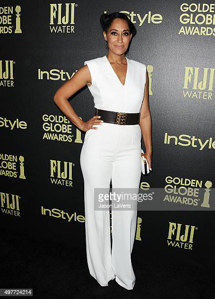 Actress Tracee Ellis Ross attends the Hollywood Foreign Press Association and InStyle's celebration of the 2016 Golden Globe award season at Ysabel...