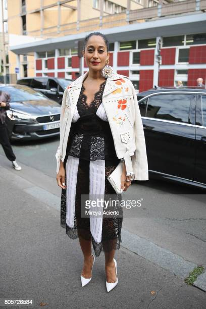Actress Tracee Ellis Ross attends the Rodarte Haute Couture fashion show on July 2 2017 in Paris France