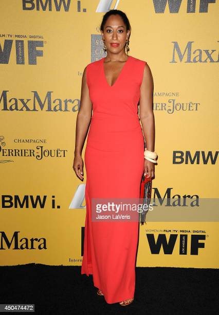 Actress Tracee Ellis Ross attends the Women In Film 2014 Crystal Lucy Awards at the Hyatt Regency Century Plaza on June 11 2014 in Century City...