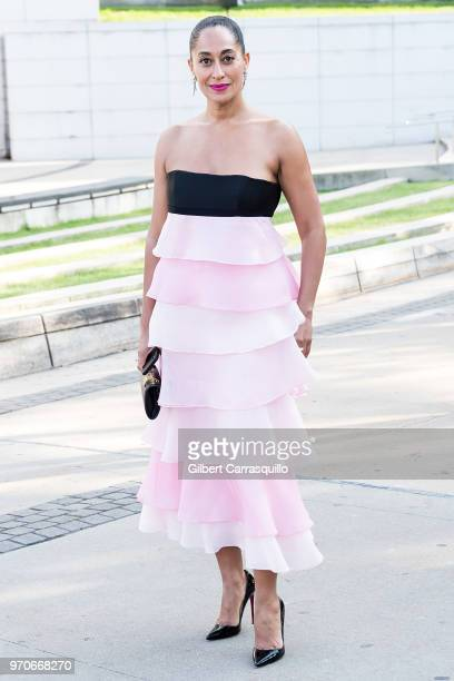 Actress Tracee Ellis Ross is seen arriving to the 2018 CFDA Fashion Awards at Brooklyn Museum on June 4, 2018 in New York City.