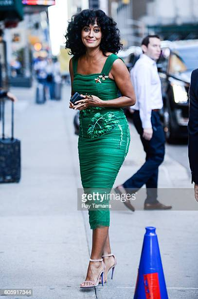 Actress Tracee Ellis Ross leaves 'The Late Show With Stephen Colbert' taping at the Ed Sullivan Theater on September 15 2016 in New York City