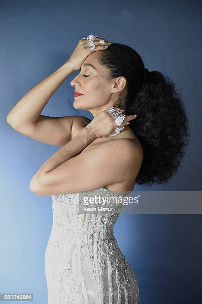 Actress Tracee Ellis Ross poses as she prepares for The 74th Annual Golden Globe Awards on January 8 2017 in Los Angeles California