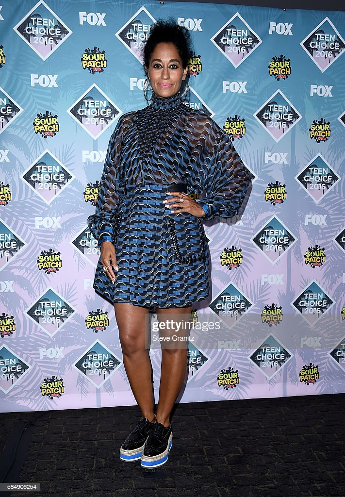Actress Tracee Ellis Ross poses in the press room during Teen Choice Awards 2016 at The Forum on July 31, 2016 in Inglewood, California.