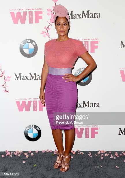 Actress Tracee Ellis Ross wearing Max Mara attends the Women In Film 2017 Crystal Lucy Awards presented By Max Mara and BMW at The Beverly Hilton...