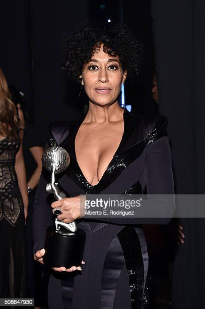 Actress Tracee Ellis Ross winner of Outstanding actress in a Comedy Series attends the 47th NAACP Image Awards presented by TV One at Pasadena Civic...