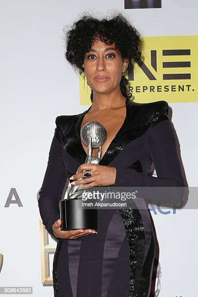 Actress Tracee Ellis Ross winner of the Outstanding Actress in a Comedy Series award for 'Blackish' poses in the press room during the 47th NAACP...