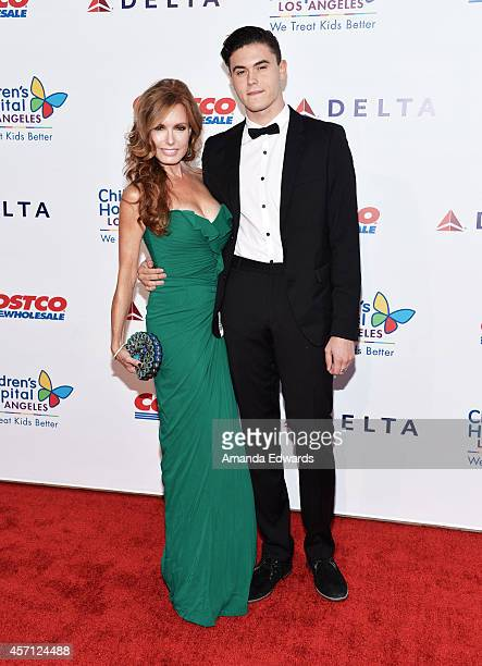 Actress Tracey Bregman and her son Landon Recht arrive at the Children's Hospital Los Angeles Gala Noche de Ninos at the LA Live Event Deck on...
