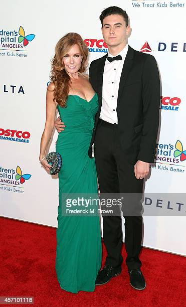 Actress Tracey Bregman and Landon Recht attend the 2014 Children's Hospital Los Angeles Gala Noche De Ninos at LA Live Event Deck on October 11 2014...