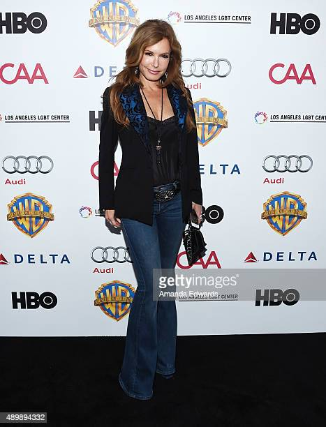 Actress Tracey Bregman arrives at the Chairs For Charity event benefiting The Los Angeles LGBT Center homeless youth services at The Washbow on...