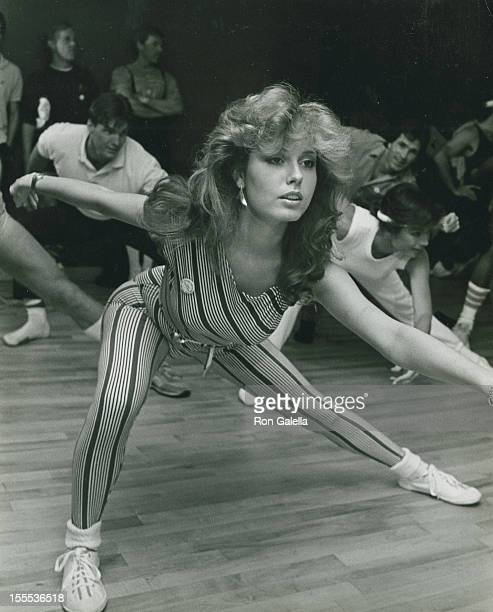 Actress Tracey Bregman attends First Annual Aerobics Marathon for Victims for Victims on April 24 1983 at the Santa Monica Athletic Club in Santa...