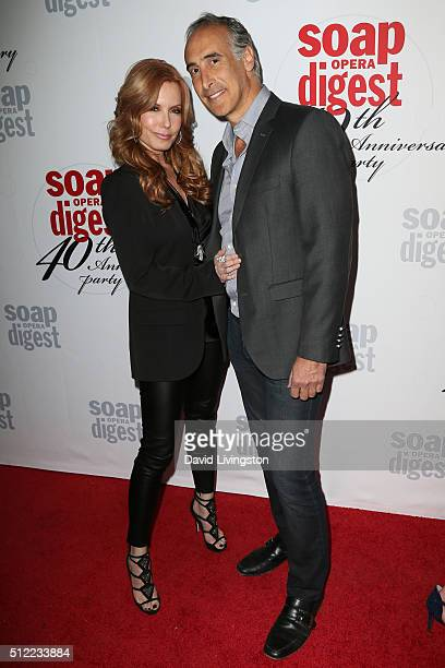 Actress Tracey E Bregman and guest arrive at the 40th Anniversary of the Soap Opera Digest at The Argyle on February 24 2016 in Hollywood California