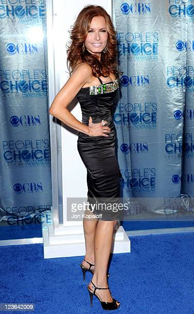 Actress Tracey E Bregman arrives at the 2011 People's Choice Awards at Nokia Theatre LA Live on January 5 2011 in Los Angeles California