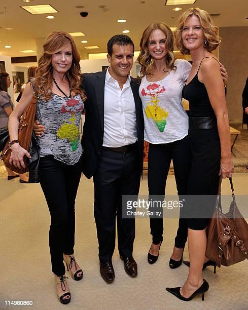 Actress Tracey E Bregman jewelry designer Amedeo Scognamiglio March To The Top Foundation's Sabrina BaldieriAntolini and actress Michelle Stafford...