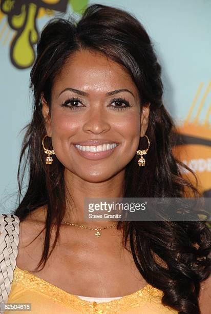 Actress Tracey Edmonds arrives at Nickelodeon's 2008 Kids' Choice Awards held at the Pauley Pavilion on March 29 2008 in Westwood California