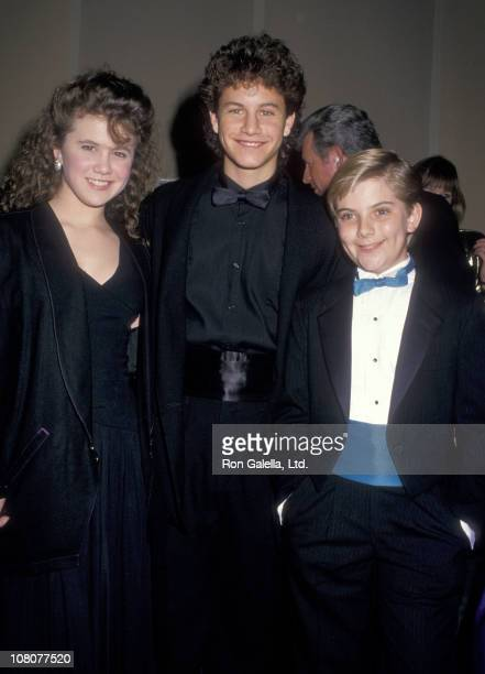 Actress Tracey Gold Actor Kirk Cameron and Actor Jeremy Miller attend the Fifth Annual American Cinema Awards on January 30 1988 at Beverly Hilton...
