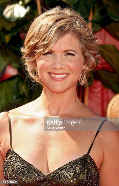 Actress Tracey Gold arrives at the 58th Annual Primetime Emmy Awards at the Shrine Auditorium on August 27 2006 in Los Angeles California