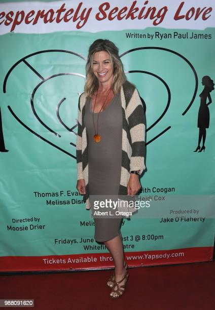 Actress Tracey Melchoir poses at 'Desperately Seeking Love' Los Angeles Opening Night held at The Whitefire Theatre on June 29 2018 in Sherman Oaks...