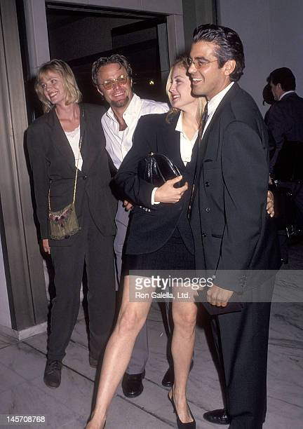 Actress Tracey Needham actor Tommy Hinkley actress Kelly Rutherford and actor George Clooney attend the ABC Television Affiliates Party on June 3...