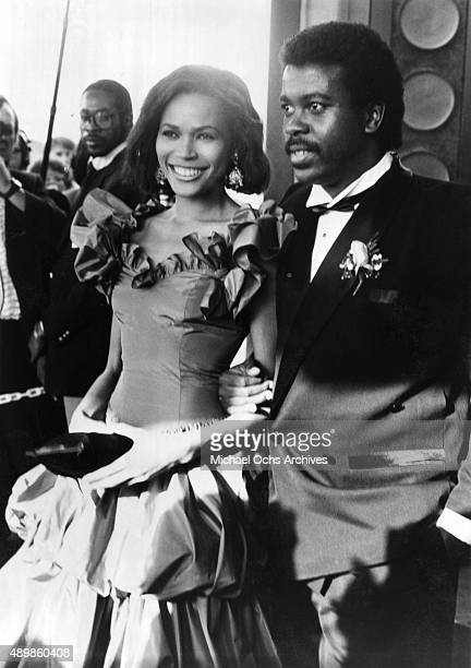 Actress Tracey Ross and her husband music producer Kashif attend the 26th Grammy Awards at the Shrine Auditorium on February 28 1984 in Los Angeles...