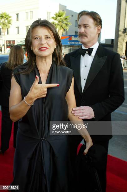 Actress Tracey Ullman and Actor Kevin Kline attend the 32nd Annual AFI Lifetime Achievement Award A Tribute to Meryl Streep held at the Kodak Theatre...