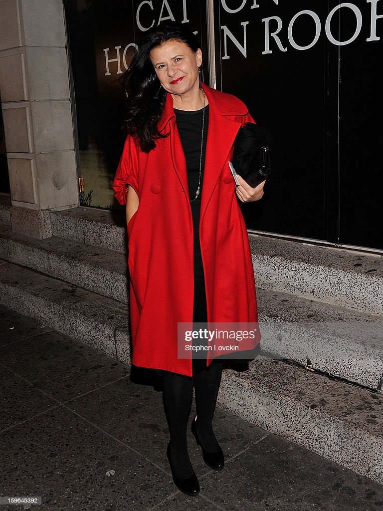 Actress Tracey Ullman attends the 'Cat On A Hot Tin Roof' Opening Night at Richard Rodgers Theatre on January 17, 2013 in New York City.