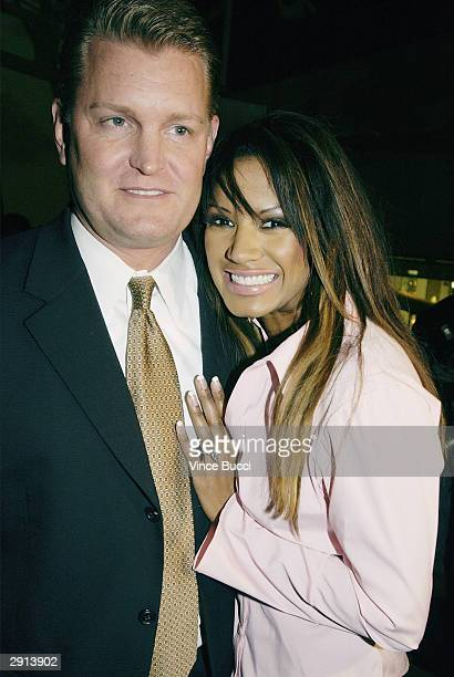 Actress Traci Bingham and fiancee John Edward Yarbrough attend Previous Images a multimedia exhibition of Sandra Knight by the actress writer and...