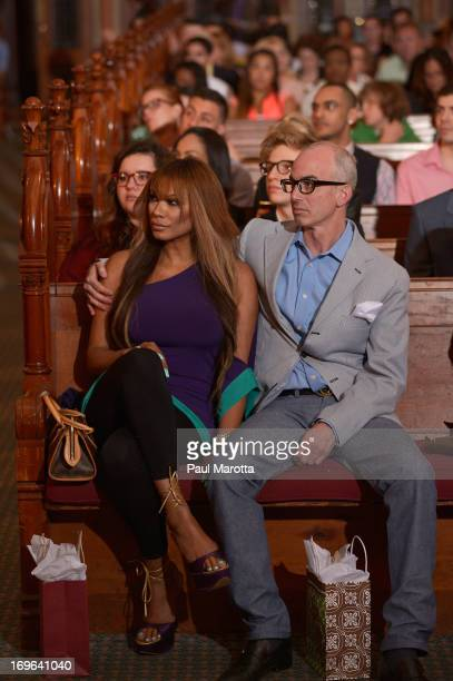 """Actress Traci Bingham and producer Devin Hill attend """"Fashion Is Our Sanctuary"""" Benefit For The One Fund at Old South Church on May 29, 2013 in..."""