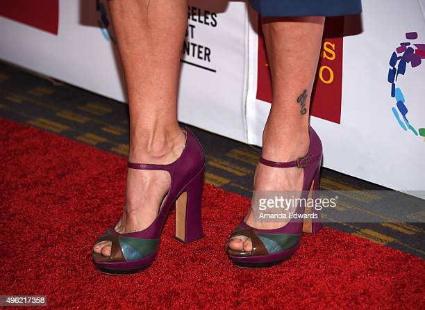 Actress Traci Dinwiddie shoe detail arrives at the 46th Anniversary Gala Vanguard Awards at the Hyatt Regency Century Plaza on November 7 2015 in Los...