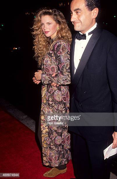 Actress Traci Lind and date Dodi Fayed attend the Foundation of the Motion Picture Pioneers' 44th Annual Pioneer of the Year Award Salute to Terry...