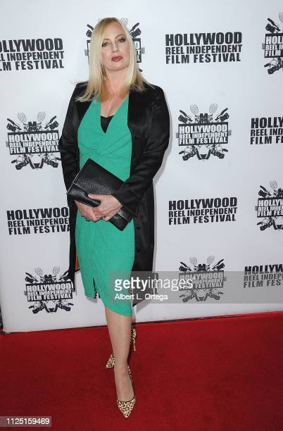 Actress Traci Lords arrives for The 2019 Hollywood Reel Independent Film Festival held at Regal LA Live Stadium 14 on February 15 2019 in Los Angeles...