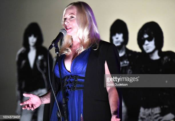Actress Traci Lords attends the Johnny Ramone Tribute and Screening of Barbarella at Hollywood Forever on August 26 2018 in Hollywood California