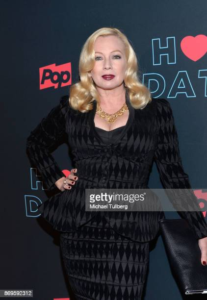 Actress Traci Lords attends the premiere of Pop TV's 'Hot Date' at Estrella on November 2 2017 in West Hollywood California