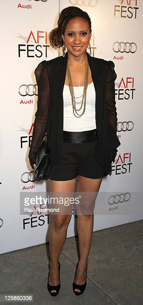 """Actress Tracie Thoms arrives at AFI Fest 2010 Screening Of """"I Will Follow"""" at the Egyptian Theatre on November 5, 2010 in Hollywood, California."""