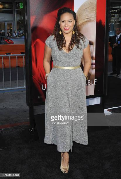 Actress Tracie Thoms arrives at the Los Angeles Premiere 'Unforgettable' at TCL Chinese Theatre on April 18 2017 in Hollywood California