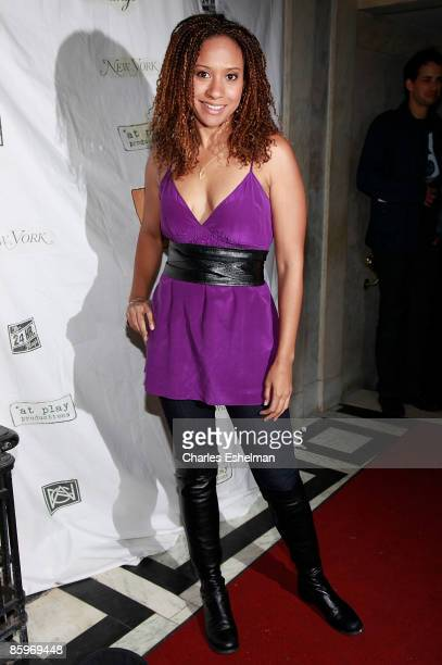 Actress Tracie Thoms attends the 24 Hour Musicals after party at The National Arts Club on April 13, 2009 in New York City.