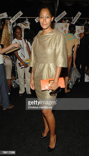 Actress Tracy Ellis Ross at Michael Kors Spring 2008 during Mercedes-Benz Fashion Week at the Tent, Bryant Park on September 9, 2007 in New York City.