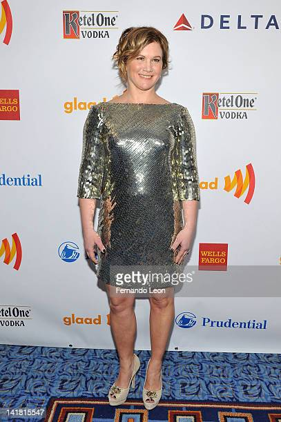 Actress Tracy Gold attends the 23rd Annual GLAAD Media Awards at the Marriott Marquis Hotel on March 24 2012 in New York City
