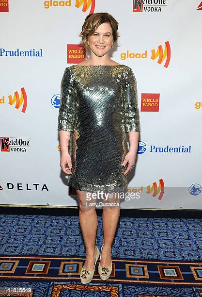 Actress Tracy Gold attends the 23rd Annual GLAAD Media Awards presented by Ketel One and Wells Fargo at Marriott Marquis Theater on March 24 2012 in...