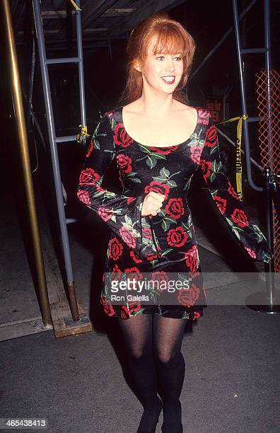 Actress Tracy Griffith attends Renny Harlin's 33rd Birthday Party on March 12 1992 at Bar One Nightclub in West Hollywood California