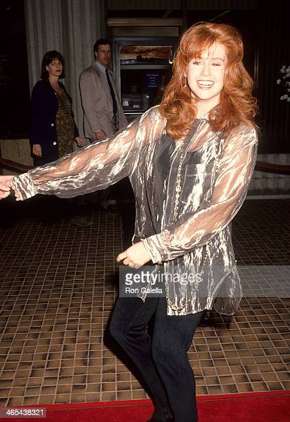 Actress Tracy Griffith attends the Shining Through Westwood Premiere on January 24 1992 at the Avco Center Cinemas in Westwood California