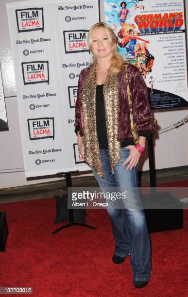 Actress Tracy Lords arrives for the Film Independent Screening Of Corman's World Exploits Of A Hollywood Rebel held at Bing Theatre At LACMA on...
